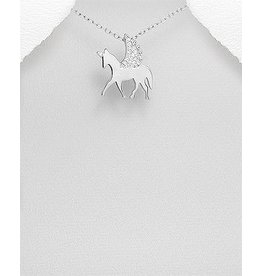 Sterling Necklace- CZ/ Unicorn