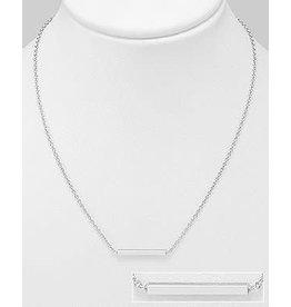 Sterling Sterling Silver Bar Necklace