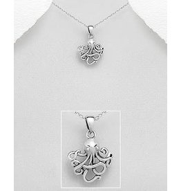 Sterling Sterling Silver Necklace- Octopus