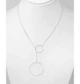 Sterling Sterling Silver Necklace- Circles