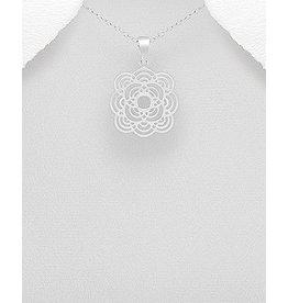 Sterling Sterling Silver Necklace- Filigree
