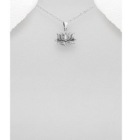 Sterling Sterling Silver Necklace- Lotus