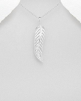 Sterling Sterling Silver Necklace- Leaf