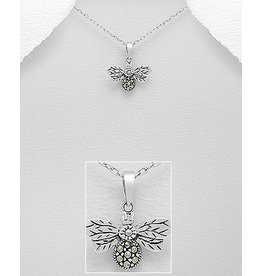 Sterling Necklace- Marcasite Bee