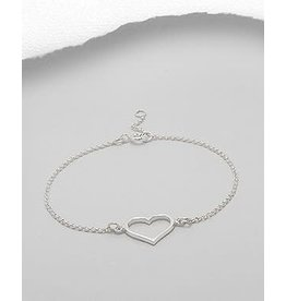 Sterling Sterling Heart Bracelet