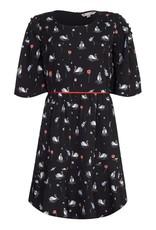 Yumi Dress-Swan Black