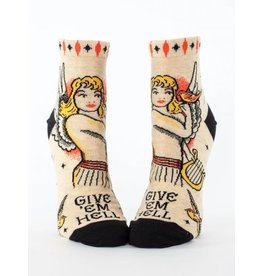 Blue Q Ladies Ankle Socks-Give 'Em Hell