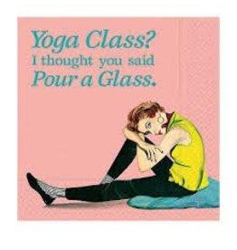 Design Design Napkins- Yoga Class