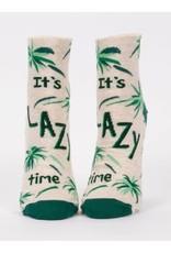 Blue Q Ladies Ankle Socks-It's Lazy Time