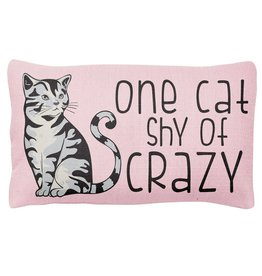 Wit Lumbar Pillow- One Cat Shy