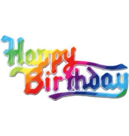 PFEIL & HOLING HAPPY BIRTHDAY RAINBOW PLAQUE 3 3/4''BOX 36 CT