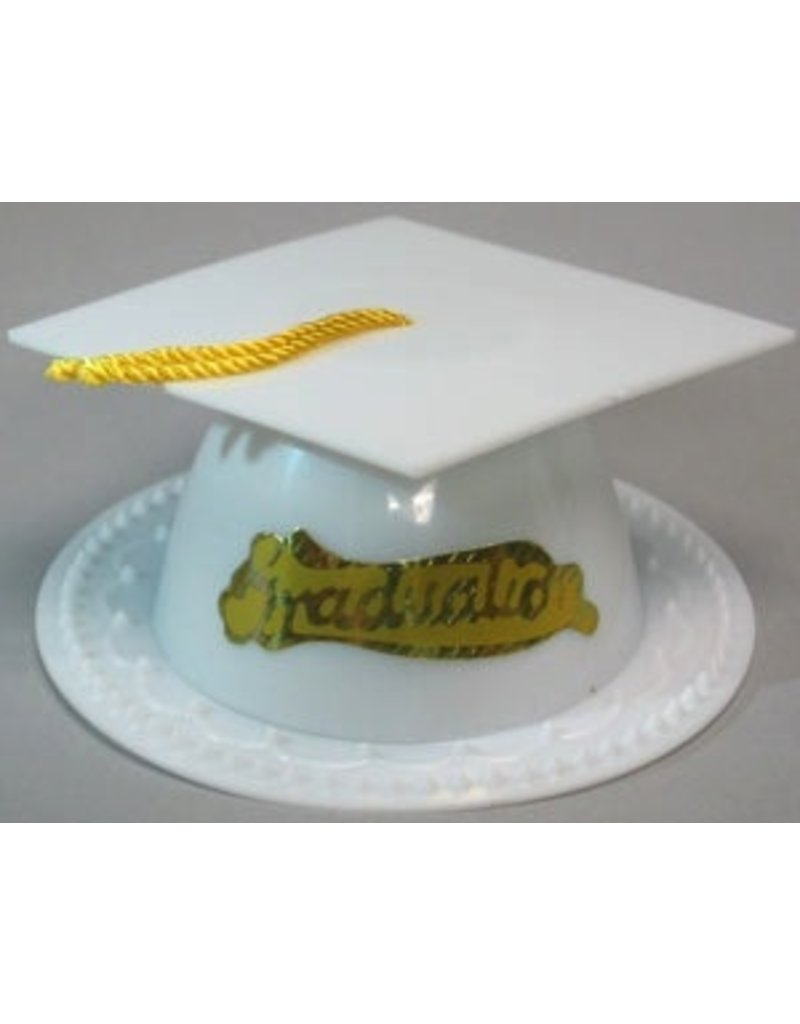 PFEIL & HOLING WHITE GRADUATION CAP 3 1/2'' BOX 24 CT