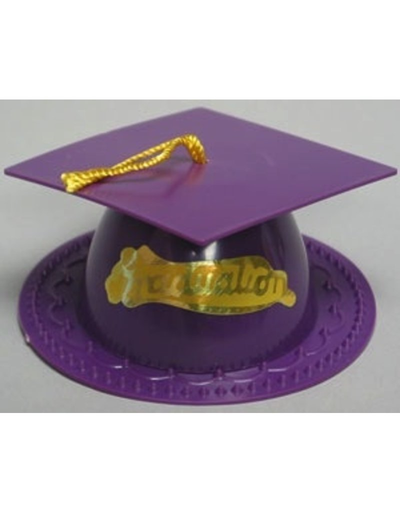 PFEIL & HOLING PURPLE GRADUATION CAP 3 1/2'' BOX 24 CT