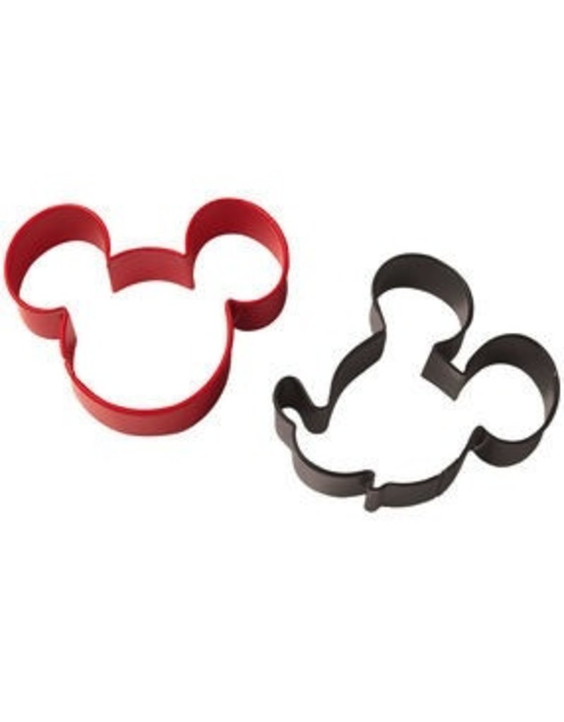 WILTON ENTERPRISES MICKEY MOUSE COOKIE CUTTER SET 2 PC
