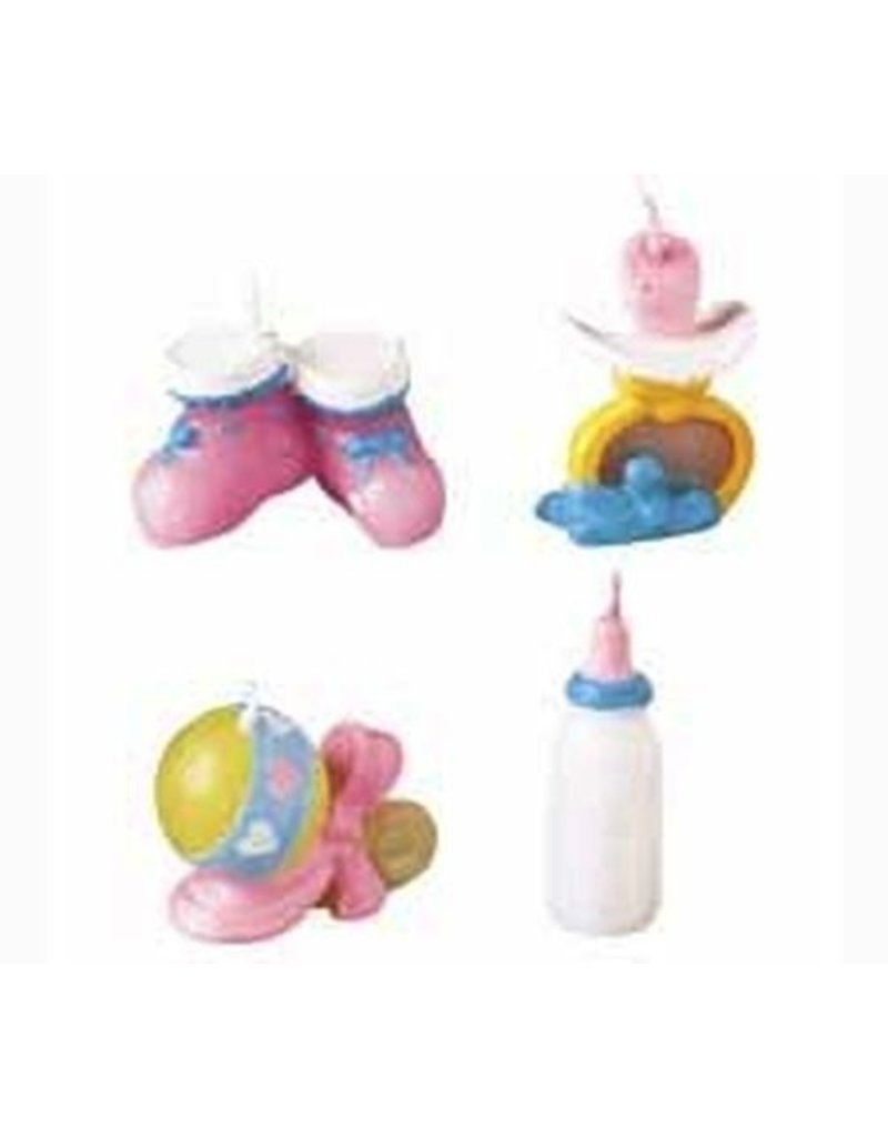 WILTON ENTERPRISES BABY THINGS CANDLES 4 CT EA