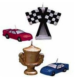 WILTON ENTERPRISES RACE CAR CANDLES EA 4 CT