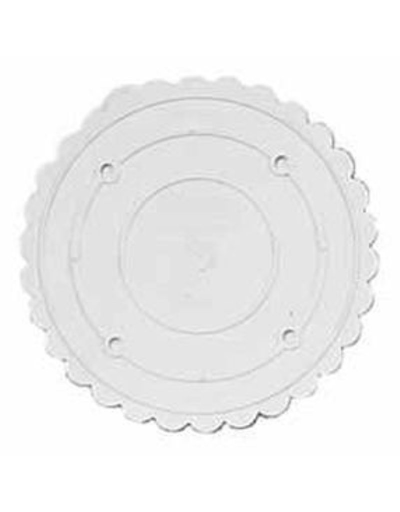 WILTON ENTERPRISES 10'' RND SCALLOPED DECO PREF SEP PLATE EA