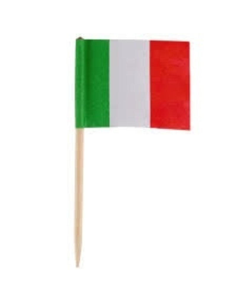 AMAZON ITALIAN FLAGS PICK PKG 144 CT