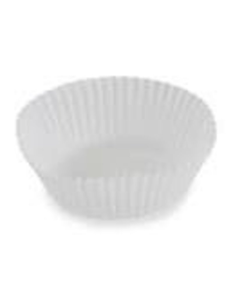 ATECO 1'' x 3/4'' WHITE PAPER BAKING CUP 200 CT