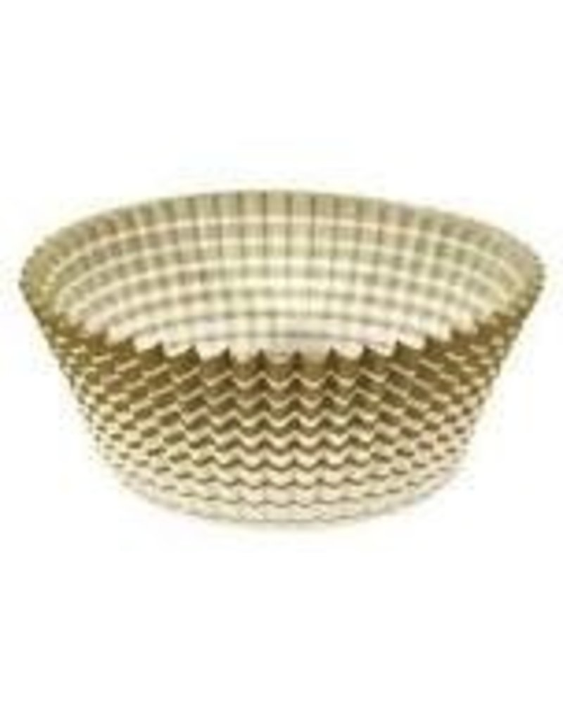 ATECO 1'' GOLD STRIPED PETITE FOUR CUP 200 CT