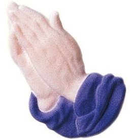 PFEIL & HOLING PRAYING HANDS SUGAR - LAVENDER 4 1/4'' BOX 16 CT P&H