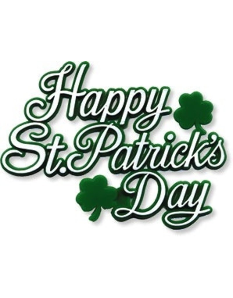 PFEIL & HOLING HAPPY ST PATRICKS DAY PLAQUE 3'' BOX 72 CT