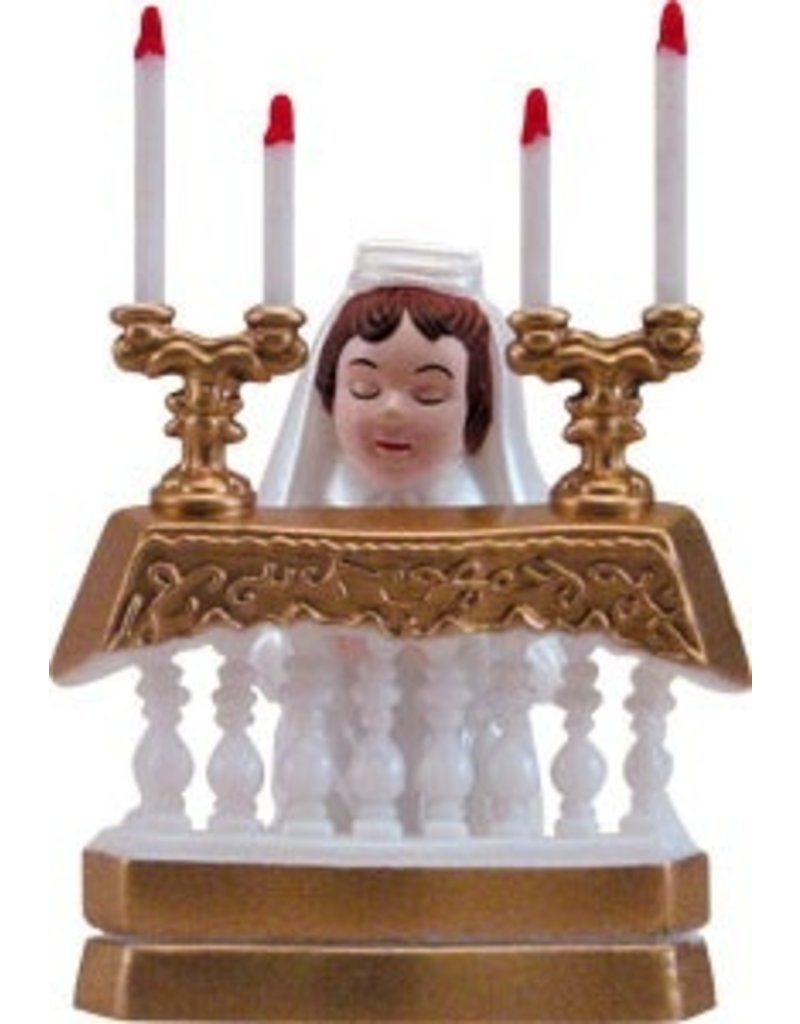 "PFEIL & HOLING COMMUNION GIRL AT ALTAR - PL 3  1/2"" EA"