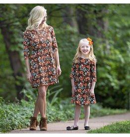 Ann Loren Floral Fit & Flare Dress - Womens