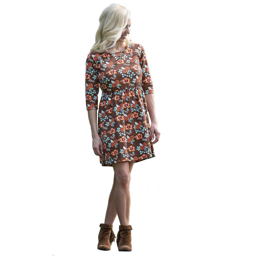 Ann Loren Floral Fit & Flare Dress - Womens