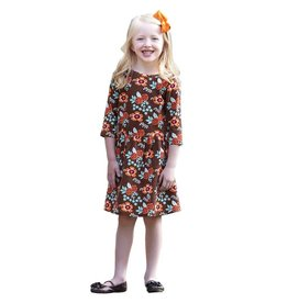Ann Loren Floral Swing Dress - Girls