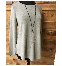 Cable & Gauge Knit tunic w/asymmetrical hem