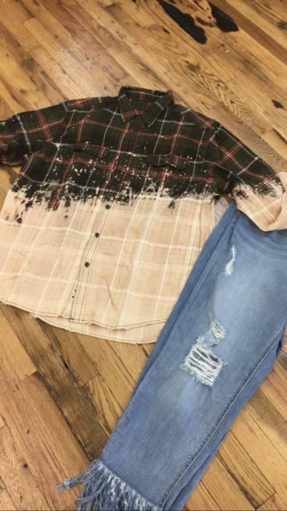 Stone Creek Designs Distressed Flannel Shirts