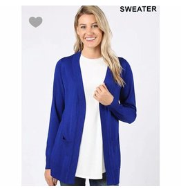 Zenana Open cardigan with pockets