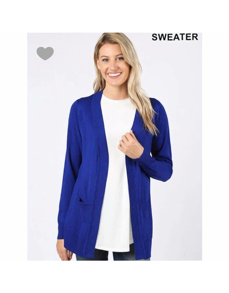 Zenana Open cardigan w/pockets