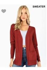 Zenana Open cardigan w/pockets