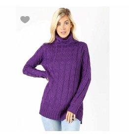 Zenana Oversized cable knit sweater
