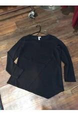 Cable & Gauge Knit tunic w/asymmetrical hem