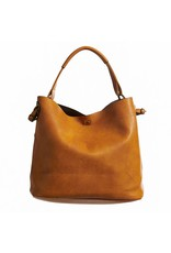 Accent Leather Bucket Bag