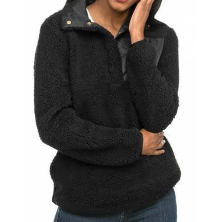 Top It Off Sherpa Pullover