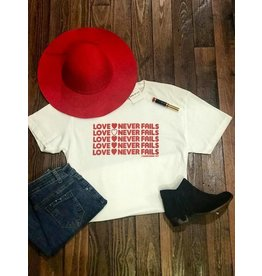 Deep South Love Never Fails tee