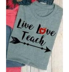 Top Crate LIVE LOVE TEACH Tee