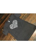 Loopty Loo Designs Subway Heart Art Tee