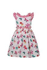 Bambiola Zoe Watercolor Butterfly Floral Dress