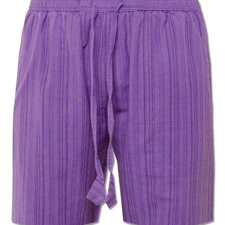 Soul Flower Striped Shorts