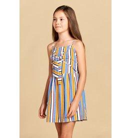 Stripe dress w/front tie