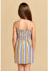 For All Seasons Stripe dress w/front tie
