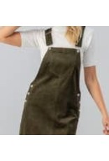 trend:notes Corduroy Overall Dress