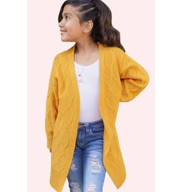 Cutie Patootie Chunky Cable Knit Cardigan