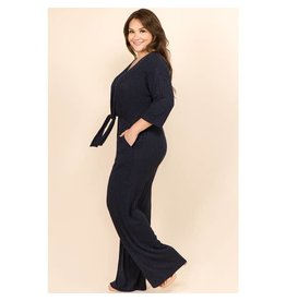 WINSLOW COLLECTION PLUS SIZE COZY SOFT KNIT JUMPSUIT