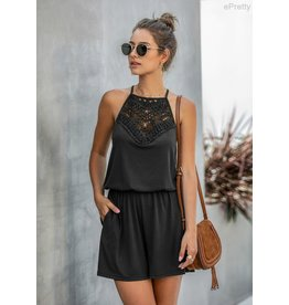 Crochet top romper